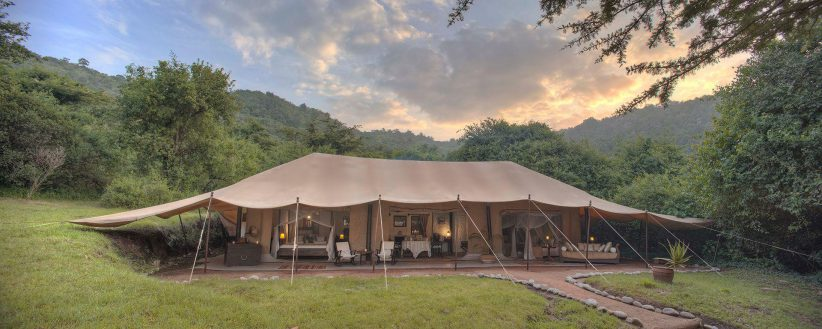 Cottars Family Tent Outside