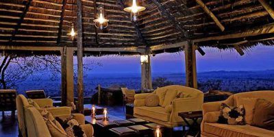 Serengeti Pioneer Camp Lounge Interior At Sunset Mid Light